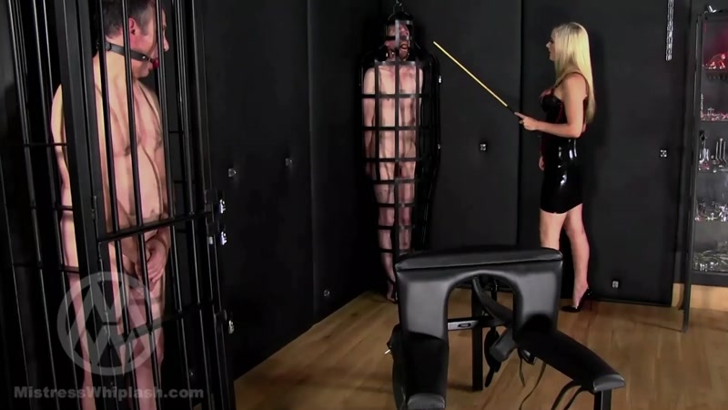 Mistress Nikki Whiplash starring in video (No mercy caning for two naughty slaves part I) [FullHD 1080P]