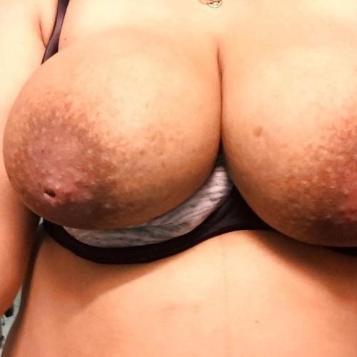Busty lactating tits