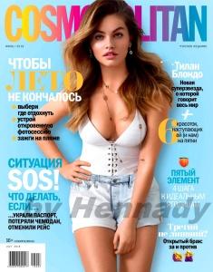 Thylane Blondeau -                Cosmopolitan Magazine Russia July 2018.