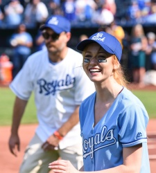 Katherine McNamara  -                 Big Slick Celebrity Softball Kauffman Stadium Kansas City June 1st 2018.
