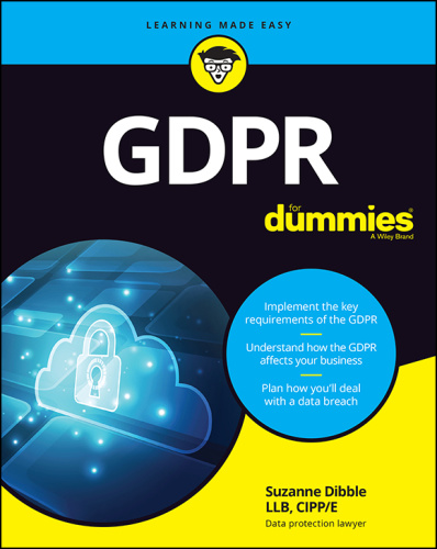 GDPR For Dummies - Suzanne Dibble