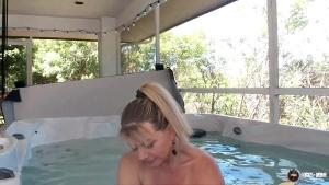VickyAtHome 20 05 24 Masturbating In Neighbors Hot Tub