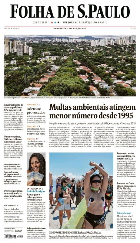 Folha de S 227 o Paulo - 09 03 (2020)