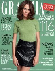 Alexa Chung -                   Grazia Magazine (Italy) February 2018.