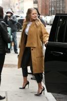 Melissa Benoist -         AOL Build Arrival New York City January 22nd 2018.