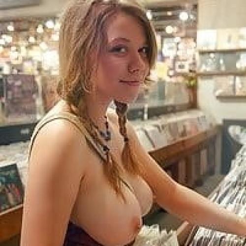 Boobs exposed in public