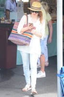 Jessica Chastain - walking around the Sydney markets with her grandmother 1/27/18