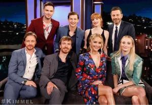 Jessica Chastain, Jennifer Lawrence, and Sophie Turner - on the set of Jimmy Kimmel Live 6/4/19