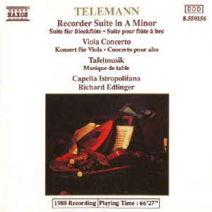 Telemann   Recorder Suite In A Minor • Viola Concerto • Tafelmusik   Capella Istro...