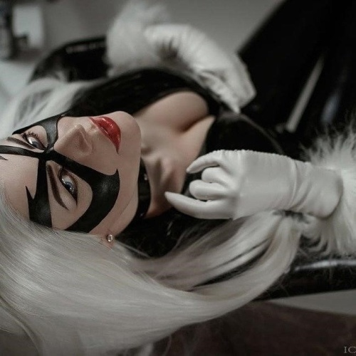 Sexy black cat costume