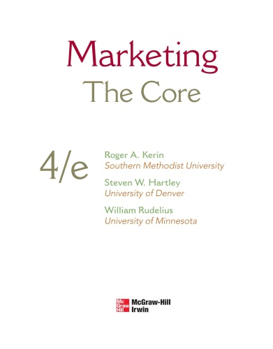 Marketing   The Core, 4 edition