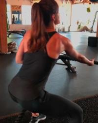 Minka Kelly Exercising - 10/25/18 Instagram Video
