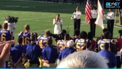 Vanessa Hudgens - Thursday Night Football National Anthem - 9-27-2018