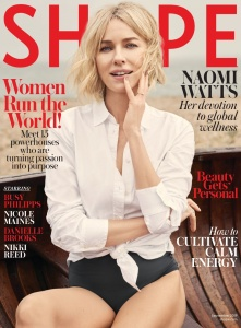 Naomi Watts -         Shape Magazine September 2019.