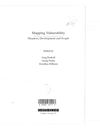 Maping Vulnerability Disasters, Development and People