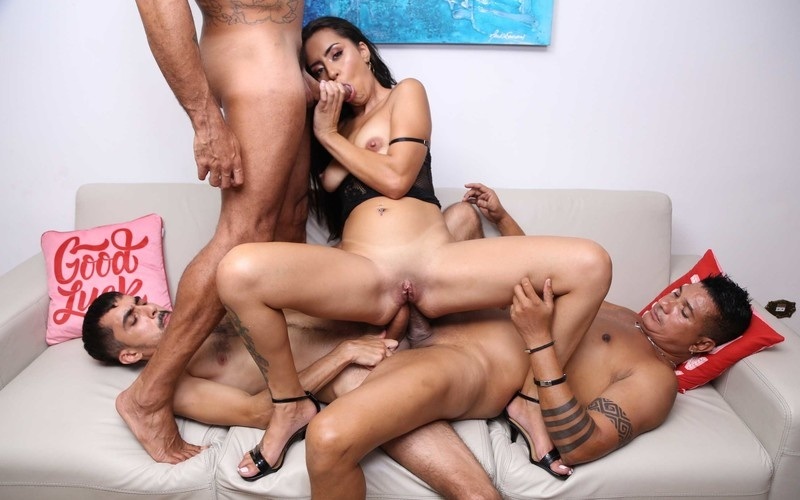 Sandy Cortez 3on1 fuck session with DP, DAP and DVP YE070 [HD 720P]