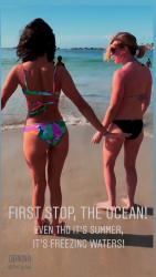 Nina Dobrev in a Bikini at a Beach in Cape Town, South Africa - 12/31/18 Instagram Videos