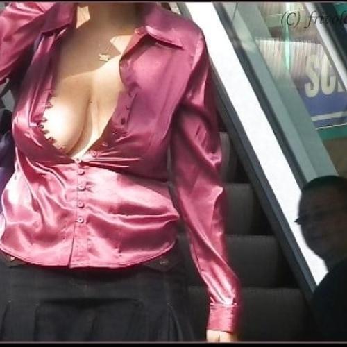 Sexy tits in public
