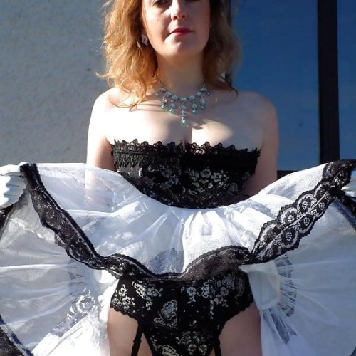 Ladies black party dress