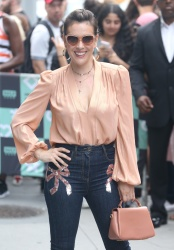 Alyssa Milano - Outside AOL Build in NYC 8/7/18