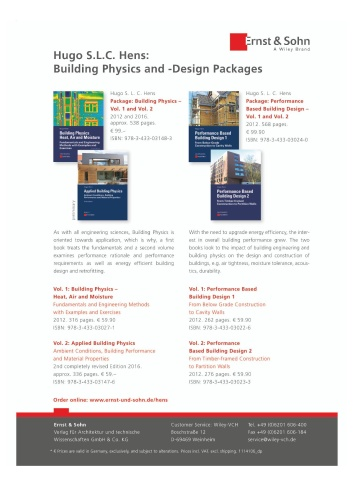 Applied Building Physics Ambient Conditions, Building Performance and Material Pro...