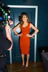 Sarah Chalke - The Late Late Show with James Corden: February 5th 2019