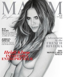 Heidi Klum  -                 Maxim (US) May/June 2018.