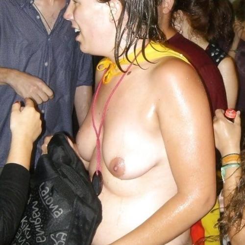 Women masterbating in public places