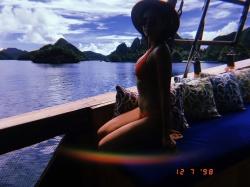 Nina Dobrev in a Bikini in Raja Ampat - 12/7/18 Instagram Pics