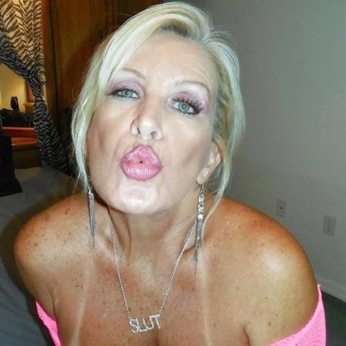 Mature women kissing