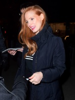 Jessica Chastain - arriving at the SNL after party in NYC 1/20/18
