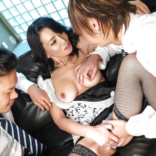 Japanese threesome anal