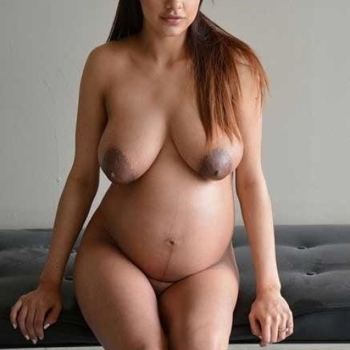 Young naked pregnant women
