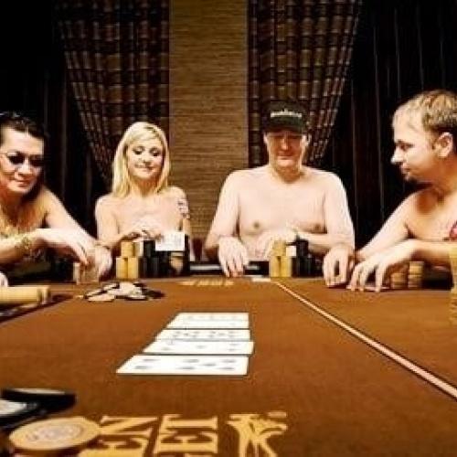 Strip poker tits