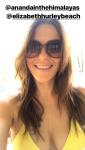 Elizabeth Hurley in Yellow Bikini Top 4/14/19