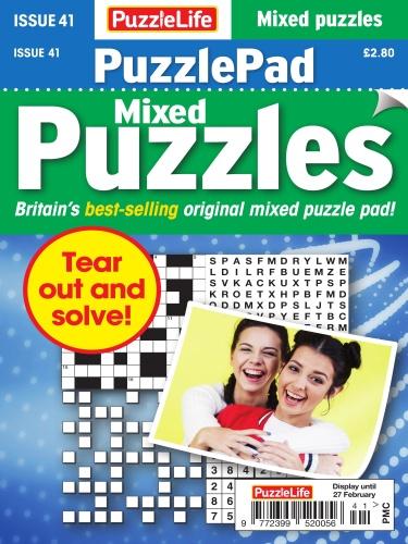 PuzzleLife PuzzlePad Puzzles - Issue 41 - January (2020)