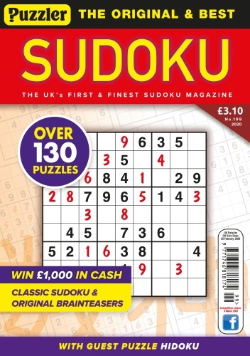 Puzzler Sudoku - Issue 199 - January (2020)