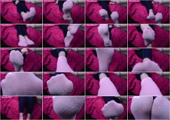Misha Mystique - Dirty Pink Ankle Socks for My footbitch