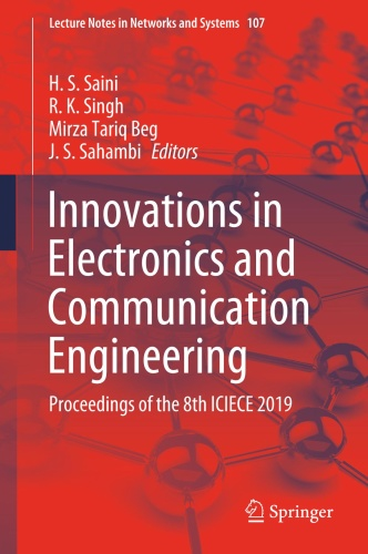Innovations in Electronics and Communication Engineering Proceedings of the 8th