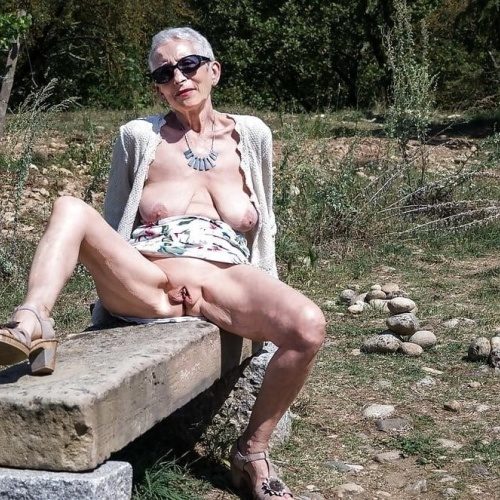Sexy old lady naked