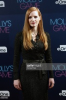 """Jessica Chastain - """"Molly's Game"""" Madrid photocall 12/4/17"""