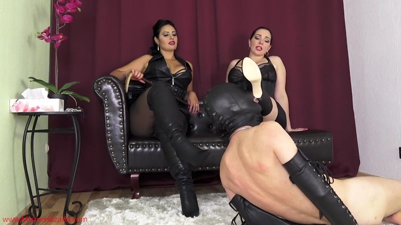 Domina Alexandra Snow and Ezada Sinn starring in video (Just a worm under Our boots) [HD 720P]
