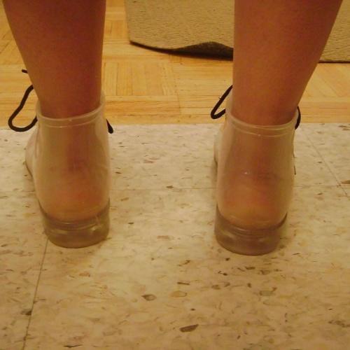 Porn rain boots