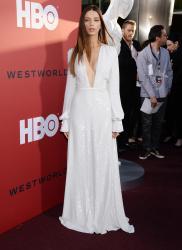 "Angela Sarafyan   -             HBO's ""Westworld"" Season 2 Premiere Los Angeles April 16th 2018."
