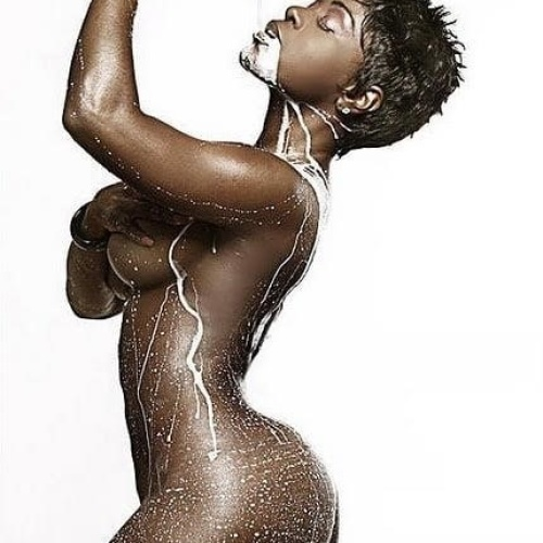 Curvy naked black women