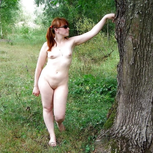 Girl nude in forest