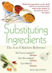 Substituting Ingredients- The A to Z Kitchen Reference