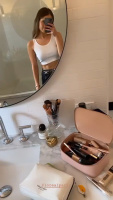 Debby Ryan wearing tank top in front of the mirror 20/5/2020
