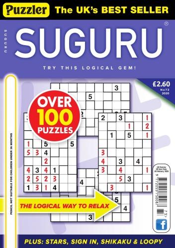 Puzzler Suguru - Issue 73 - January (2020)
