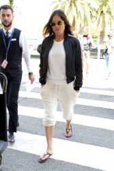 Michelle Rodriguez - At the Airport in Nice, France 5/19/18